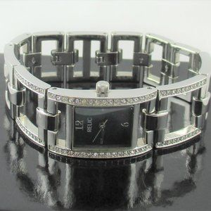 Relic Stainless Steel Crystal Bracelet Watch